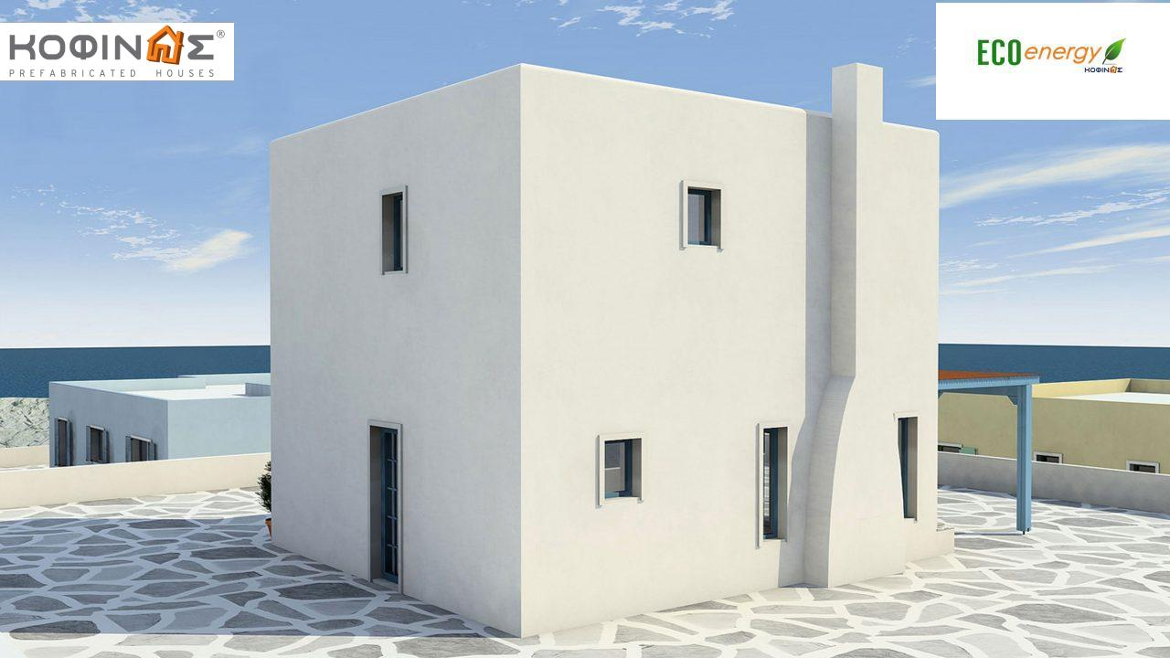 2-story house D-84, total surface of 84,70 m² ,roofed areas 18.90 m²,balconies 13.32 m²0