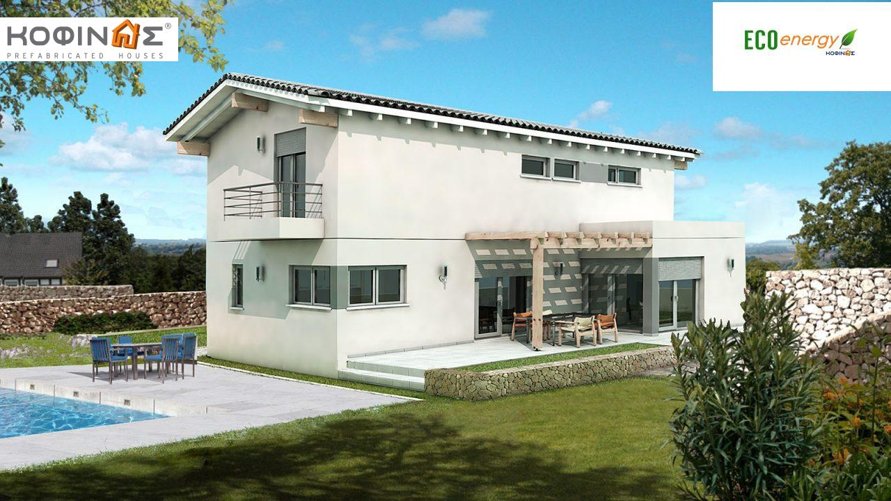 2-story house D-154, total surface of 154,70 m²,roofed areas 18.15 m²,balconies 2.80 m² featured image