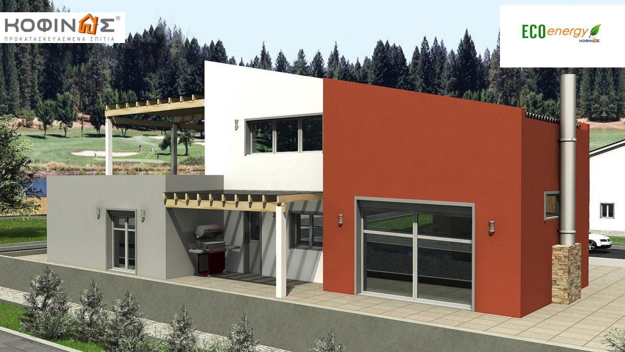 Διώροφη Κατοικία D-206, συνολικής επιφάνειας 206,30 τ.μ., συνολική επιφάνεια στεγασμένων χώρων 58.91 τ.μ., μπαλκόνια 93.55 τ.μ. featured image