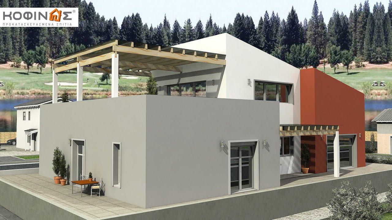 Διώροφη Κατοικία D-206, συνολικής επιφάνειας 206,30 τ.μ., συνολική επιφάνεια στεγασμένων χώρων 58.91 τ.μ., μπαλκόνια 93.55 τ.μ.1