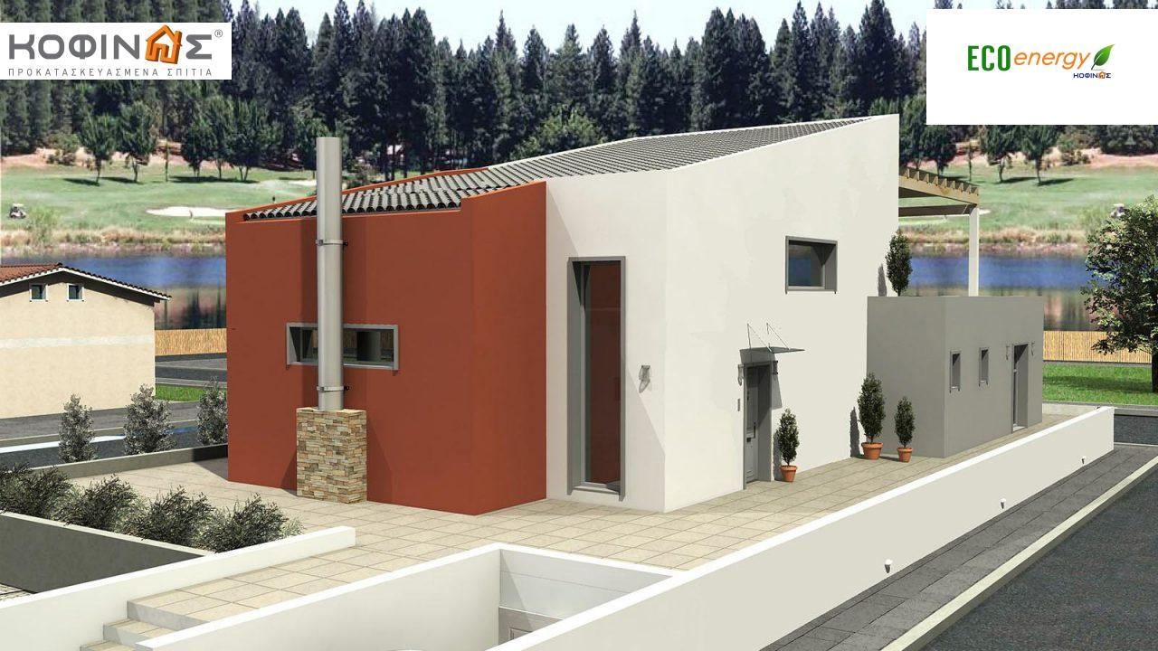 Διώροφη Κατοικία D-206, συνολικής επιφάνειας 206,30 τ.μ., συνολική επιφάνεια στεγασμένων χώρων 58.91 τ.μ., μπαλκόνια 93.55 τ.μ.0