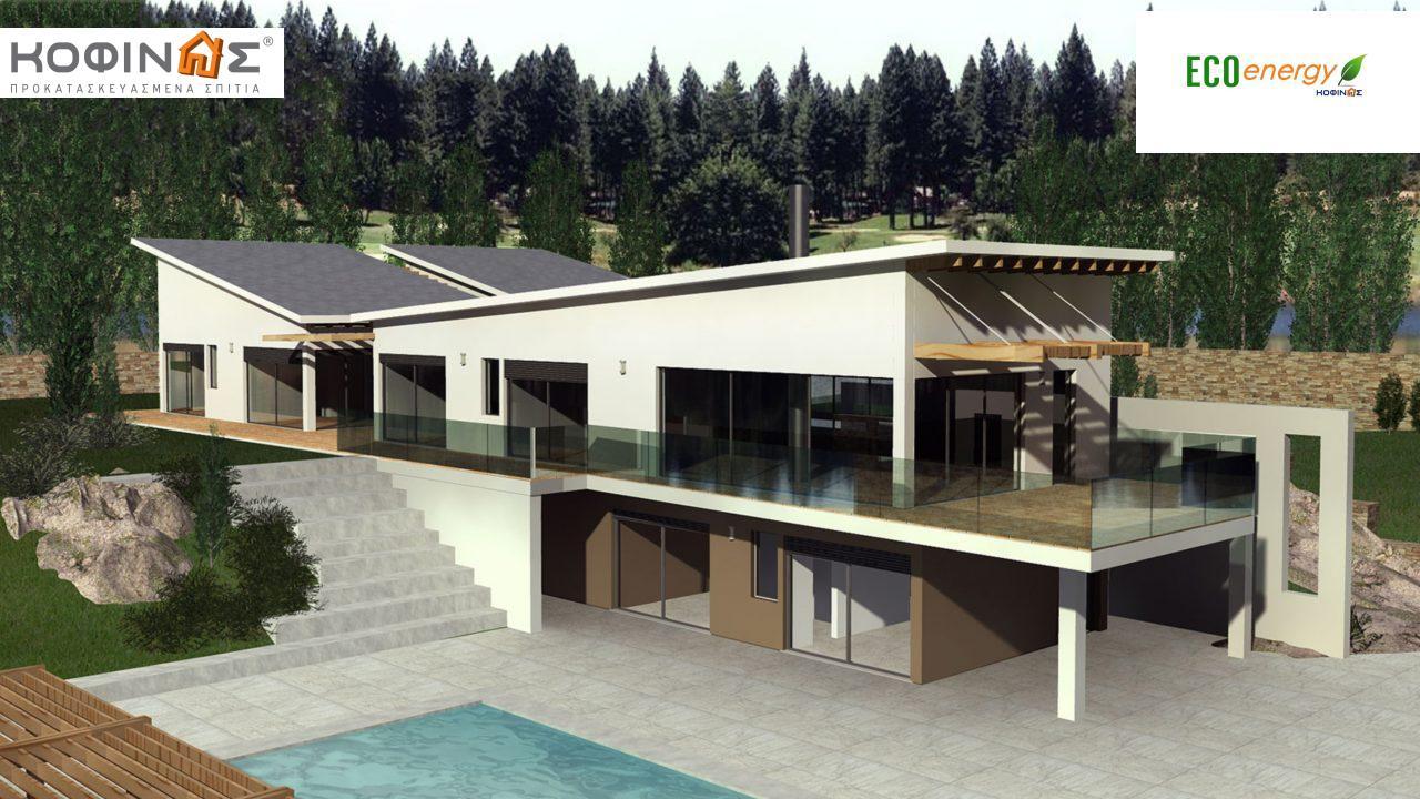 Διώροφη Κατοικία D-351, συνολικής επιφάνειας 351,80 τ.μ., συνολική επιφάνεια στεγασμένων χώρων 57.60 τ.μ., μπαλκόνια 26.00 τ.μ.0