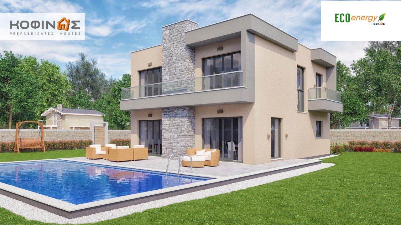 2-story house D-190, total surface of 190,94 m² ,roofed areas 25.02 m²,balconies 18.96 m²3