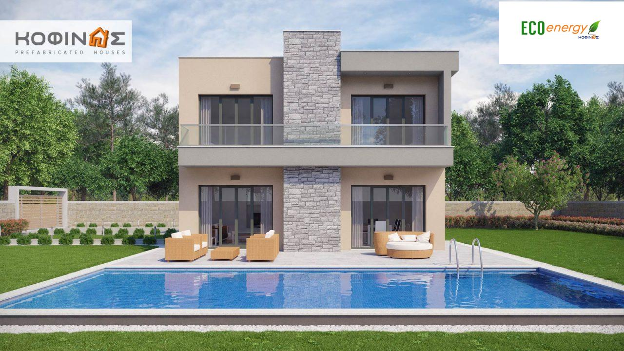 2-story house D-190, total surface of 190,94 m² ,roofed areas 25.02 m²,balconies 18.96 m²4