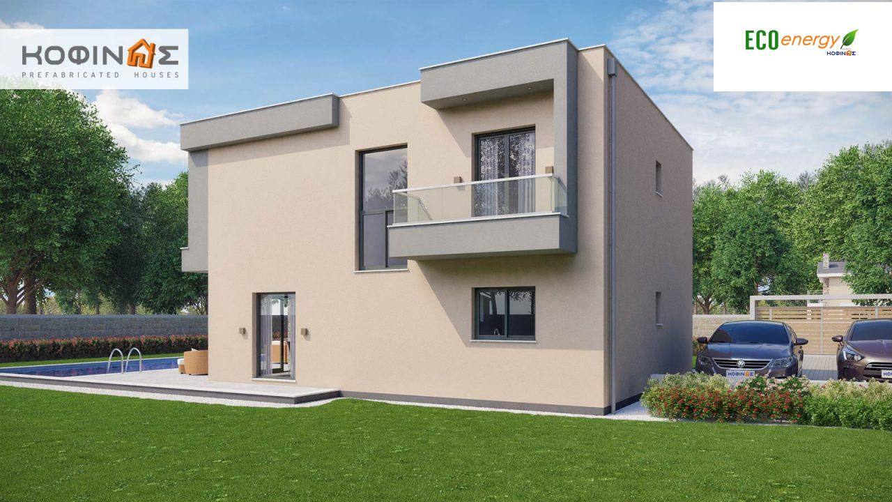 2-story house D-190, total surface of 190,94 m² ,roofed areas 25.02 m²,balconies 18.96 m²5