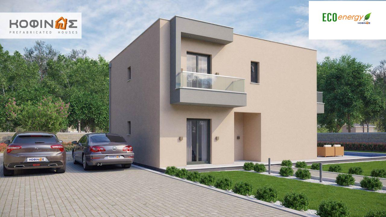 2-story house D-190, total surface of 190,94 m² ,roofed areas 25.02 m²,balconies 18.96 m²0