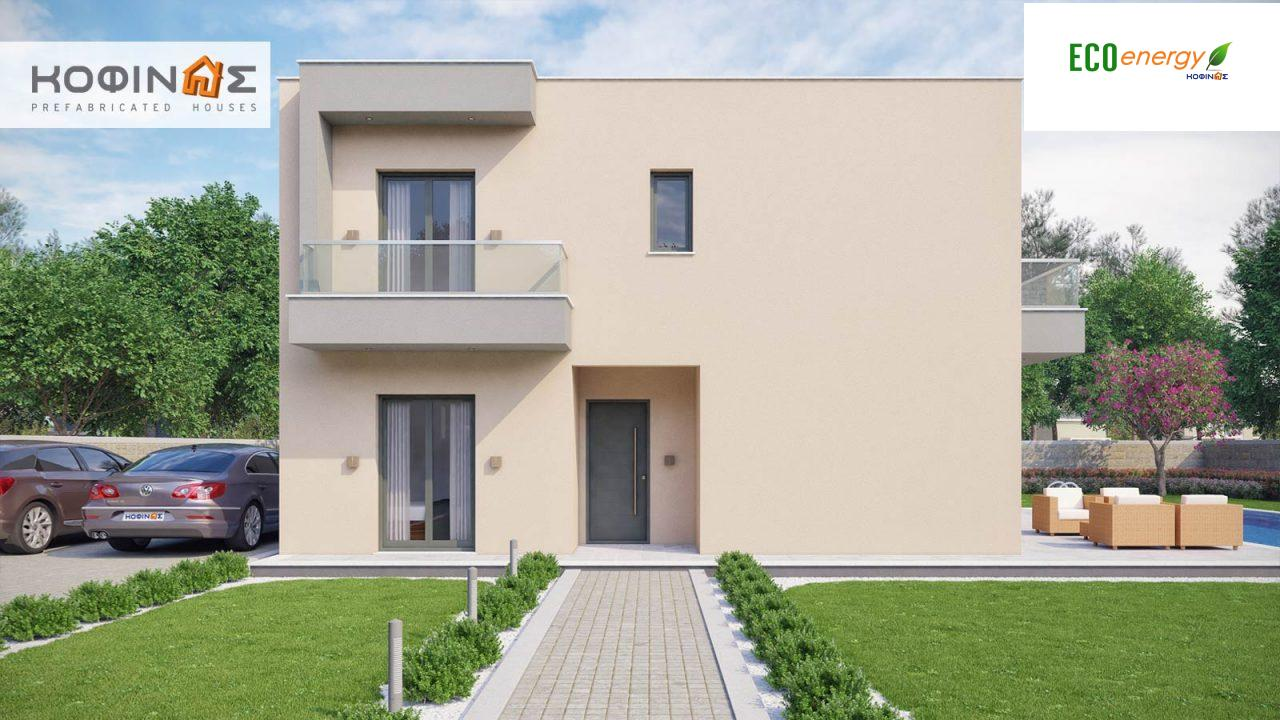 2-story house D-190, total surface of 190,94 m² ,roofed areas 25.02 m²,balconies 18.96 m²2
