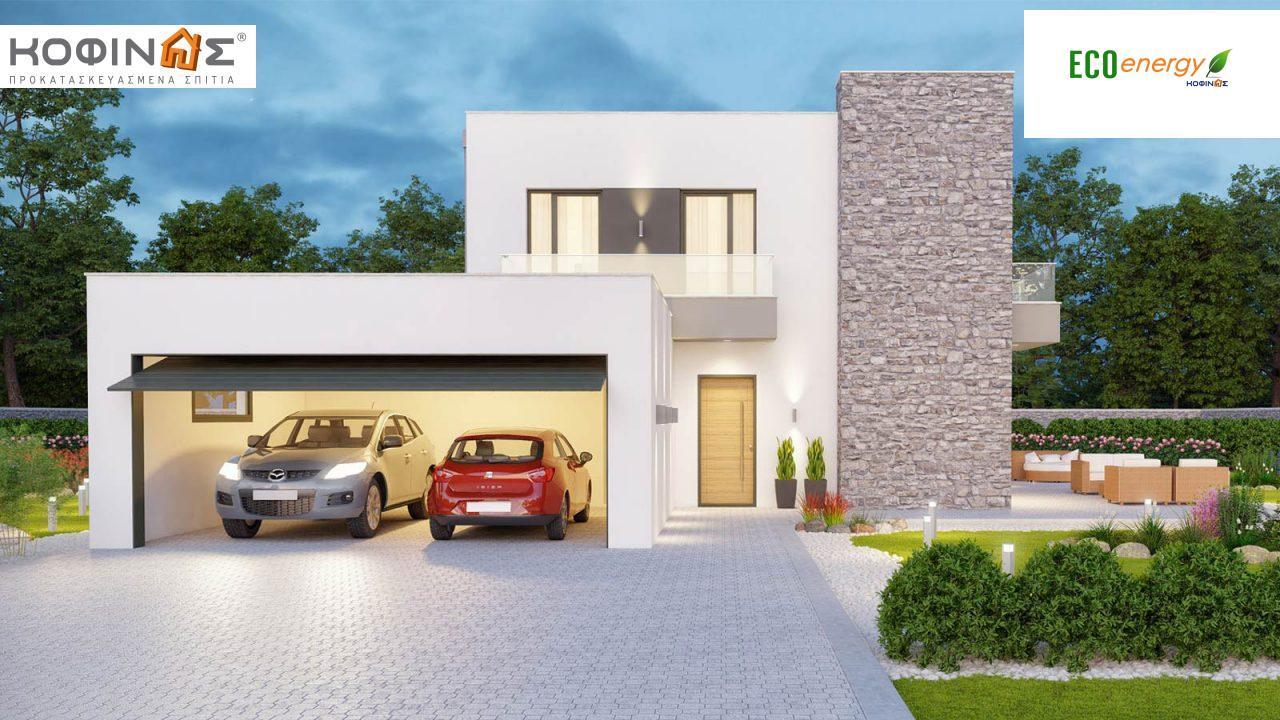 Διώροφη Κατοικία D-177, συνολικής επιφάνειας 177,46 τ.μ., +Γκαράζ 41.38 m²(=218,84 m²),συνολική επιφάνεια στεγασμένων χώρων 4.20 τ.μ., μπαλκόνια 17.04 τ.μ.0