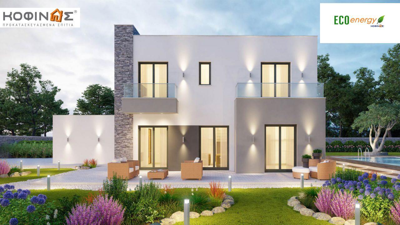 Διώροφη Κατοικία D-177, συνολικής επιφάνειας 177,46 τ.μ., +Γκαράζ 41.38 m²(=218,84 m²),συνολική επιφάνεια στεγασμένων χώρων 4.20 τ.μ., μπαλκόνια 17.04 τ.μ.2
