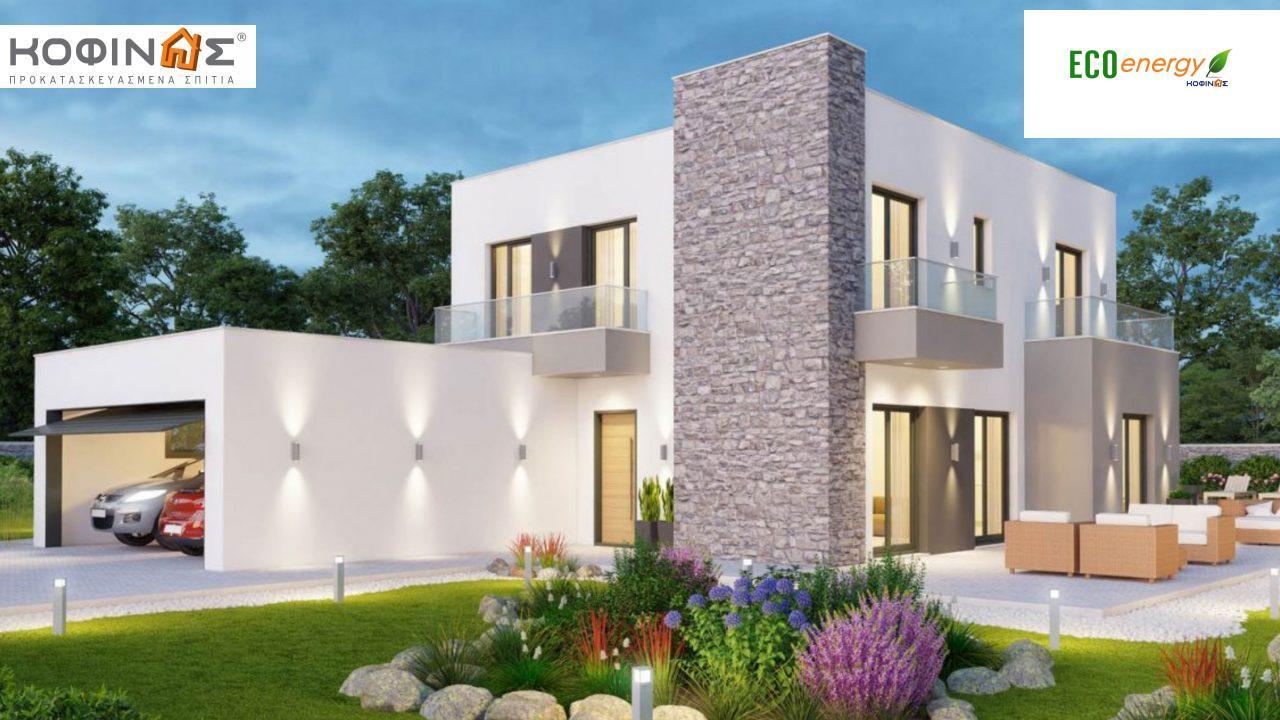 Διώροφη Κατοικία D-177, συνολικής επιφάνειας 177,46 τ.μ., +Γκαράζ 41.38 m²(=218,84 m²),συνολική επιφάνεια στεγασμένων χώρων 4.20 τ.μ., μπαλκόνια 17.04 τ.μ. featured image