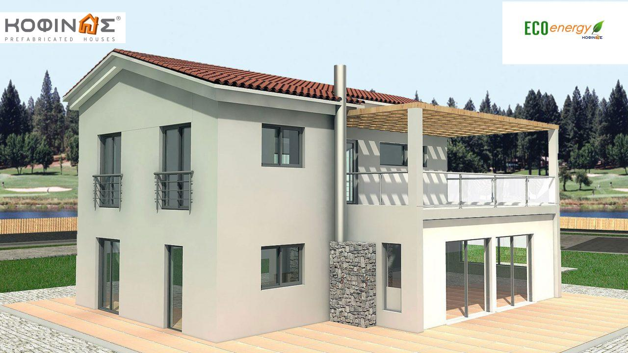 2-story house D-178, total surface of 178,80 m²,roofed areas 40.46 m²,balconies 37.91 m²0