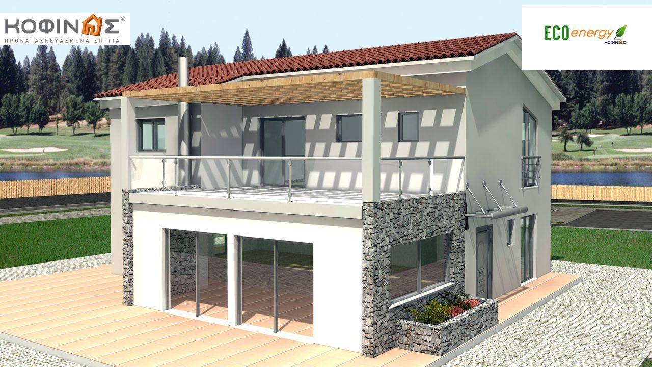 Διώροφη Κατοικία D-178, συνολικής επιφάνειας 178,80 τ.μ., συνολική επιφάνεια στεγασμένων χώρων 40.46 τ.μ., μπαλκόνι 37.91 τ.μ. featured image