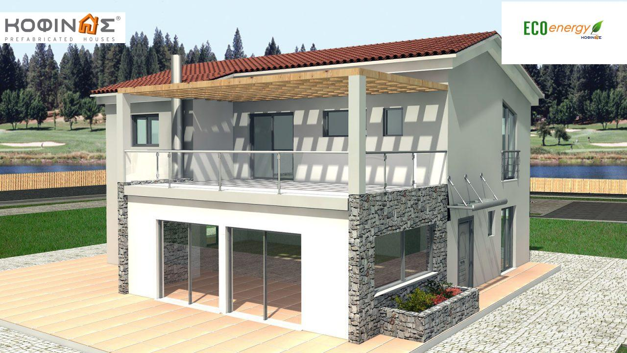 2-story house D-178, total surface of 178,80 m²,roofed areas 40.46 m²,balconies 37.91 m² featured image