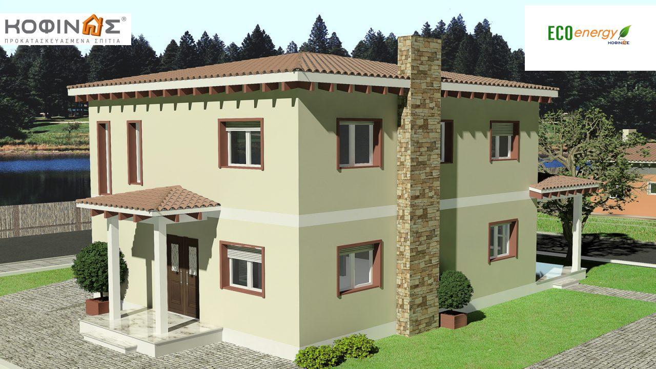 Διώροφη Κατοικία D-181, συνολικής επιφάνειας 181,90 τ.μ., συνολική επιφάνεια στεγασμένων χώρων 48.02 τ.μ.1