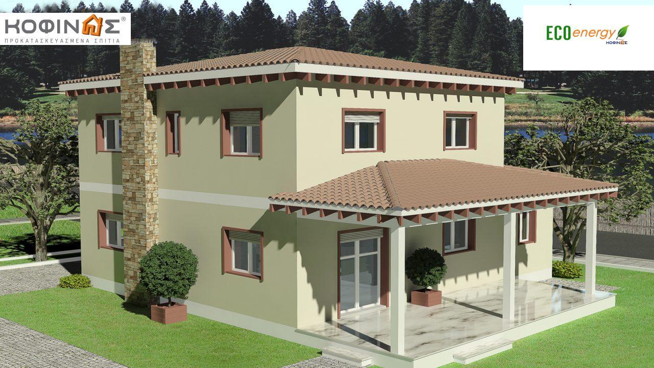Διώροφη Κατοικία D-181, συνολικής επιφάνειας 181,90 τ.μ., συνολική επιφάνεια στεγασμένων χώρων 48.02 τ.μ.2