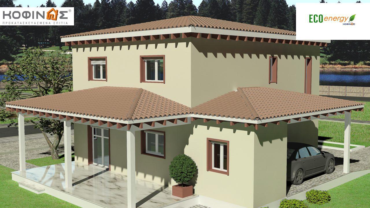 Διώροφη Κατοικία D-181, συνολικής επιφάνειας 181,90 τ.μ., συνολική επιφάνεια στεγασμένων χώρων 48.02 τ.μ.0