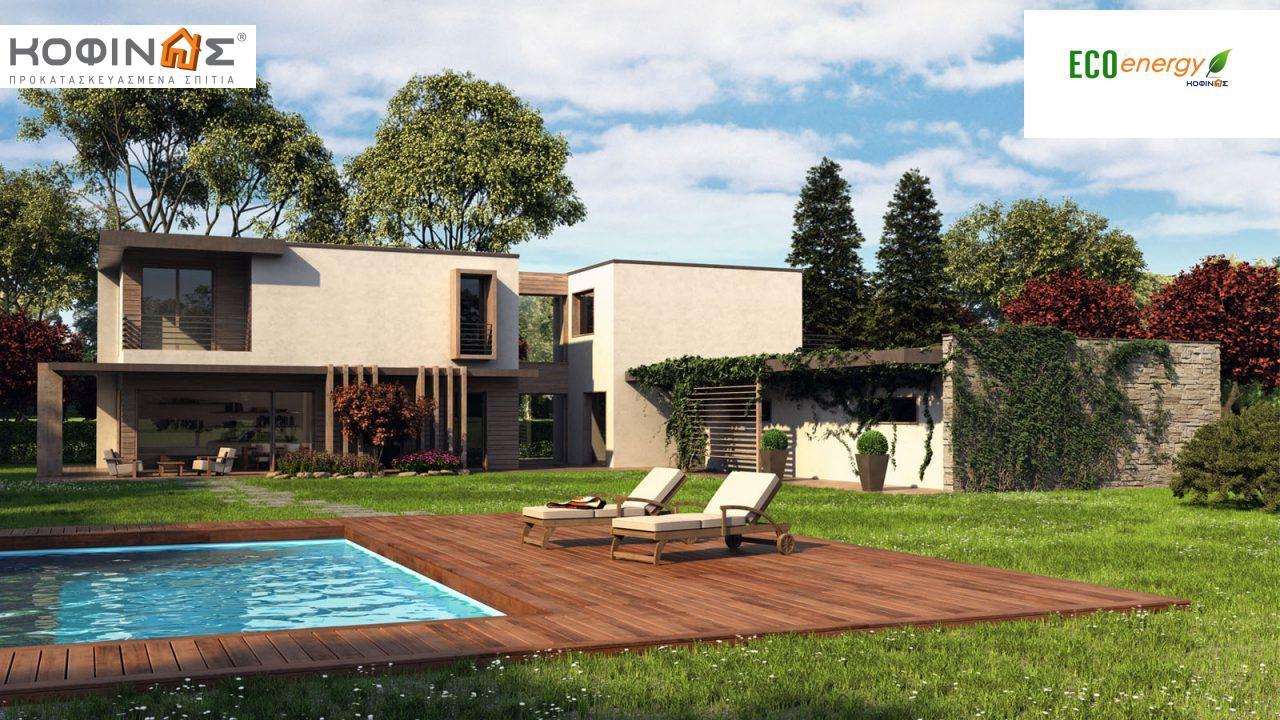 Διώροφη Κατοικία D-159, συνολικής επιφάνειας 159,96 τ.μ., +Γκαράζ 34.44 m²(=194.40 m²),συνολική επιφάνεια στεγασμένων χώρων 34.32 τ.μ. featured image