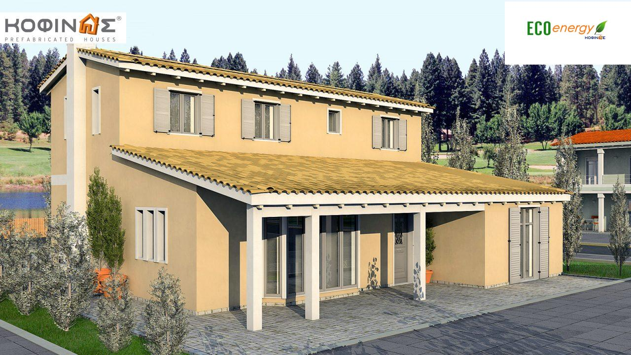 2-story house D-167, total surface of 167,00 m²,roofed areas 15.10 m² featured image