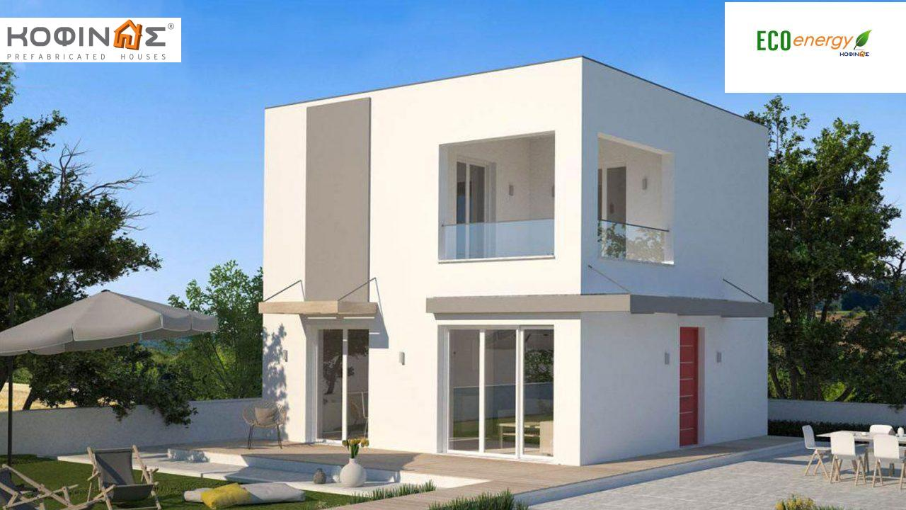 2-story house KD1-95, total surface of 95,70 m²,roofed areas 19.23 m²,balconies 10.89 m² featured image