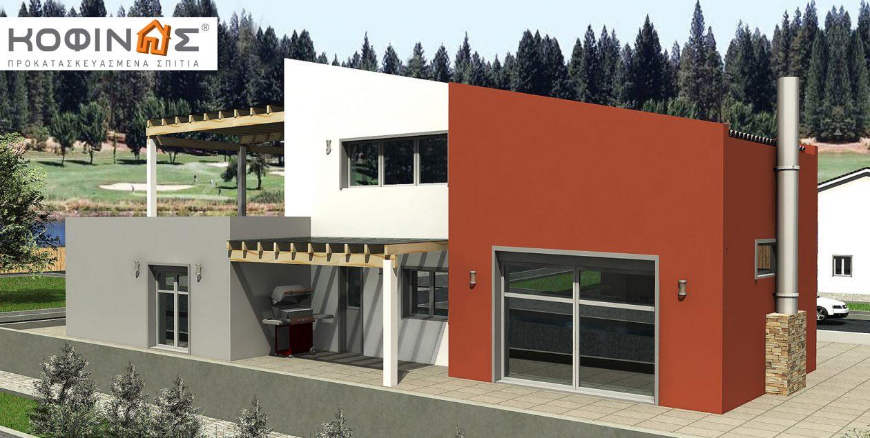 Διώροφη Κατοικία D-206, συνολικής επιφάνειας 206,30 τ.μ. featured image