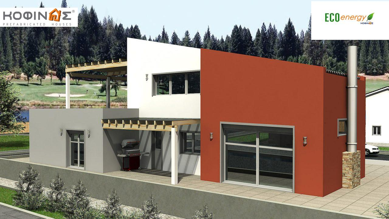 2-story house D-206, total surface of 206,30 m² ,roofed areas 58.91 m²,balconies 93.55 m² featured image