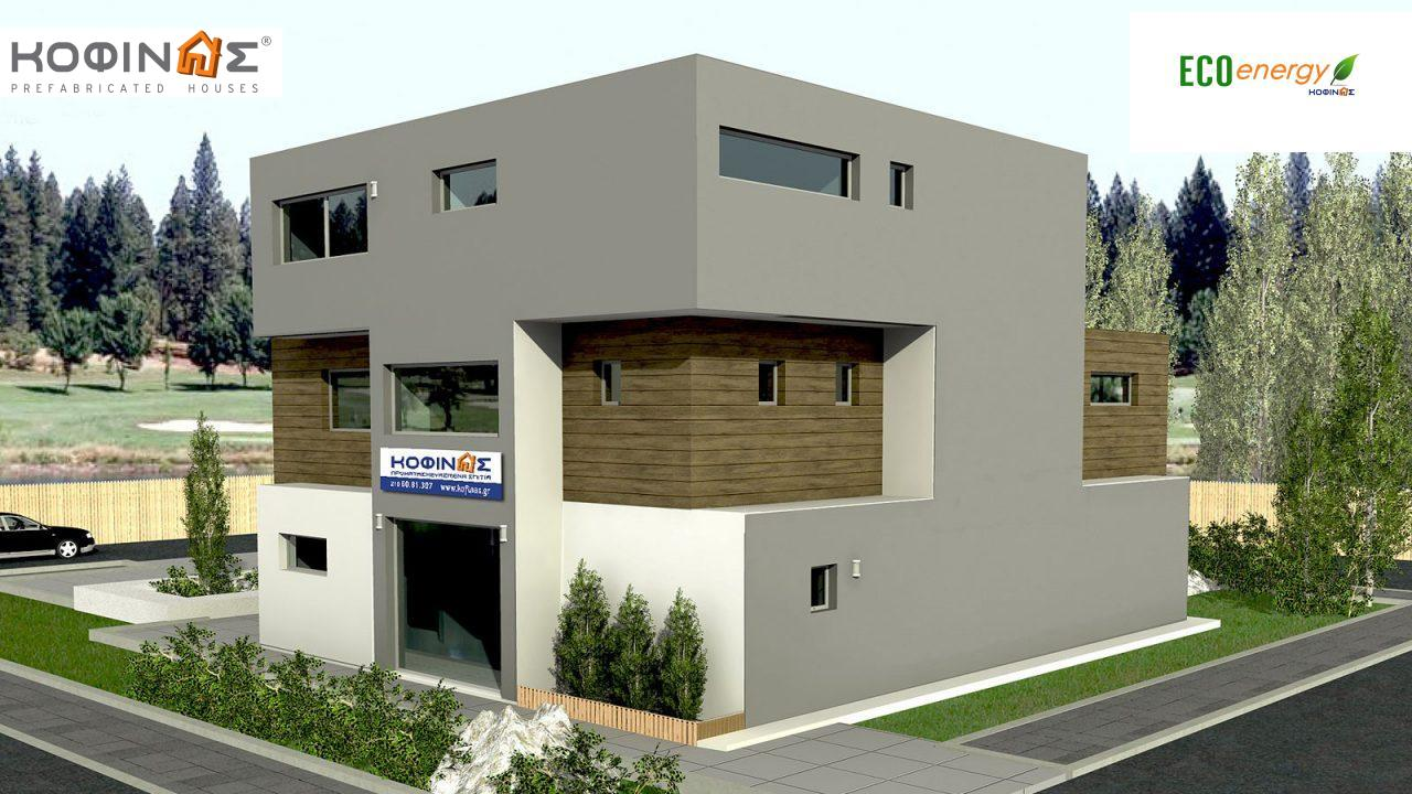 3-story office building with attrium E-436, total space of 436,30 m²,roofed areas 27,98 m²1