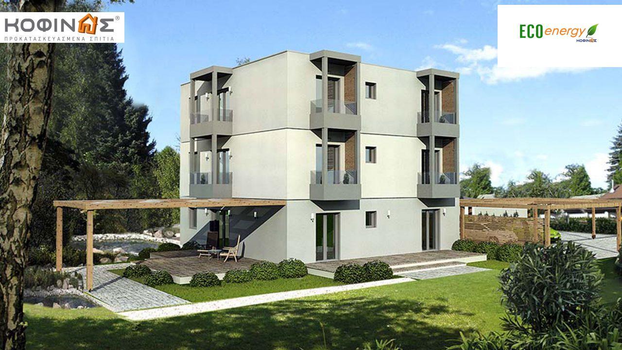 Τριώροφη Κατοικία T-288, συνολικής επιφάνειας 288,48 τ.μ. ,συνολική επιφάνεια στεγασμένων χώρων 13.20 τ.μ., μπαλκόνια 13,20τ.μ. featured image