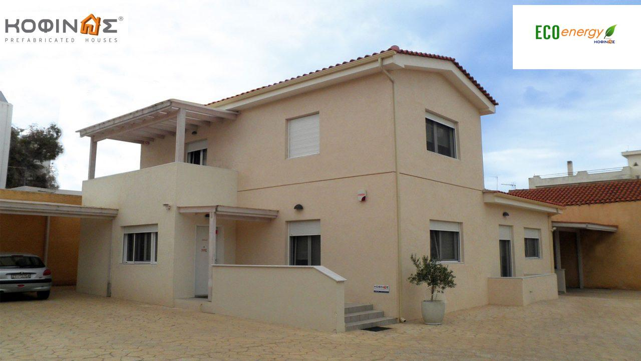 2-story office building E-175, total space of 175,50 m² ,roofed areas 27.00 m², balcony 10.40 m²3