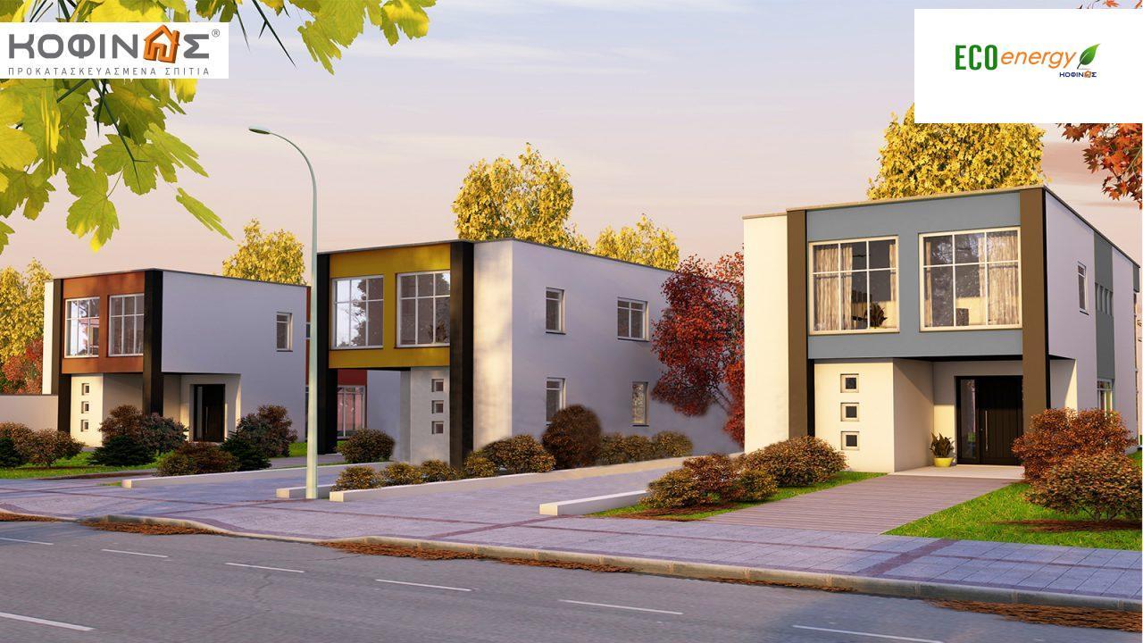 Διώροφη Κατοικία D-136, συνολικής επιφάνειας 136,39 τ.μ., συνολική επιφάνεια στεγασμένων χώρων 14.80 τ.μ. featured image
