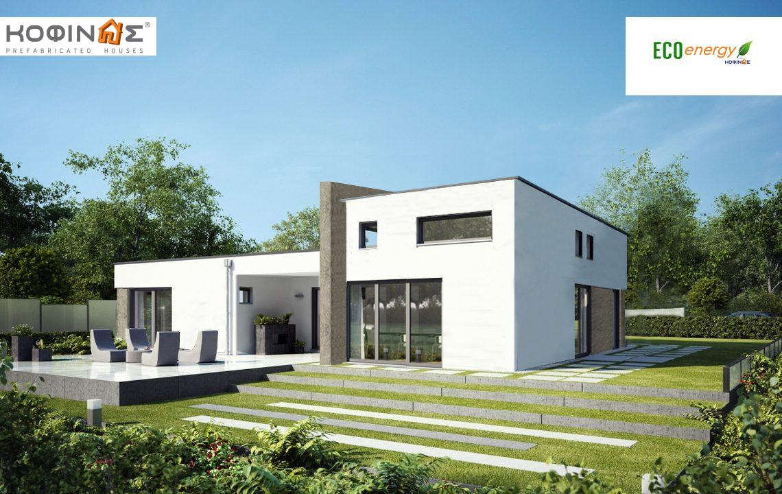1-story house I-116, total surface of 116,80 m², roofed areas 13,63 m² featured image
