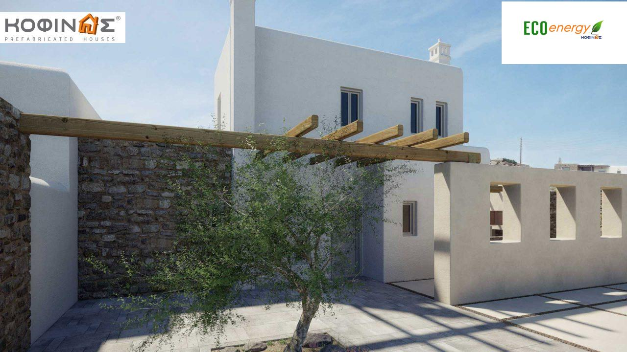 2-story house E-82, total surface of 82,30 m², roofed areas 2.00 m²0