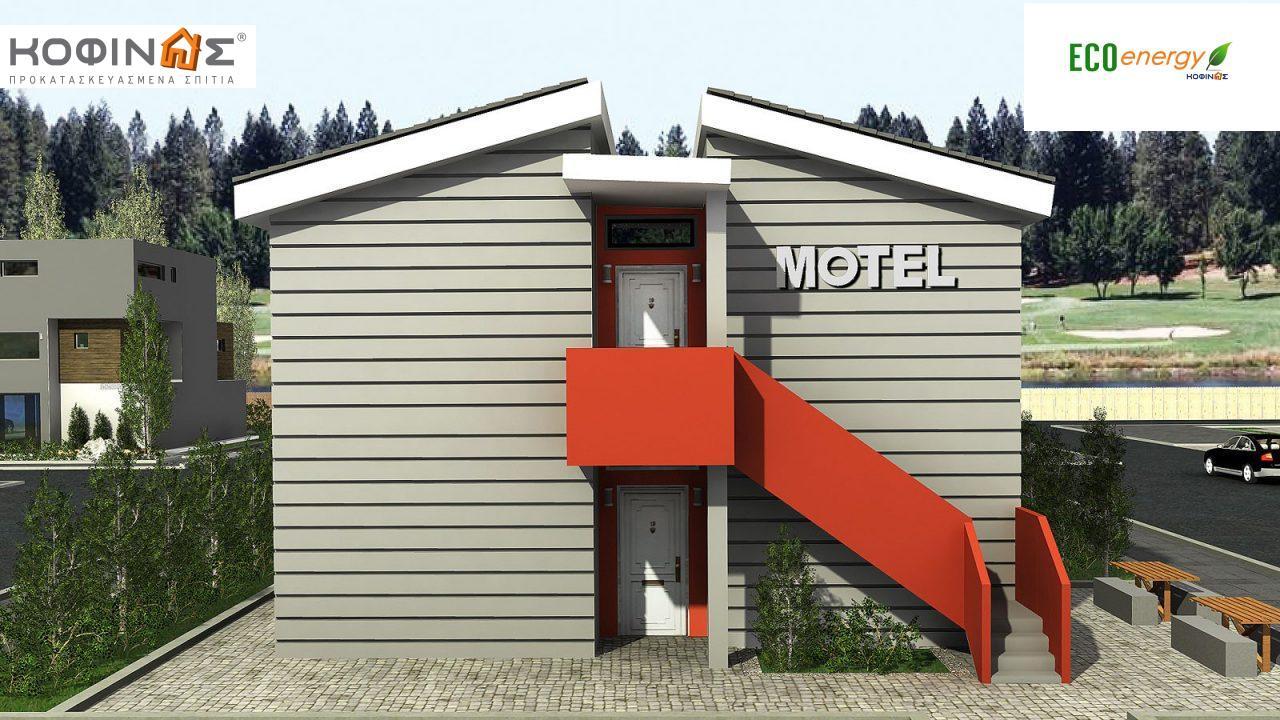 Διώροφο Motel E-394, συνολικής επιφάνειας 394,50 τ.μ., συνολική επιφάνεια στεγασμένων χώρων 22,80 τ.μ.1