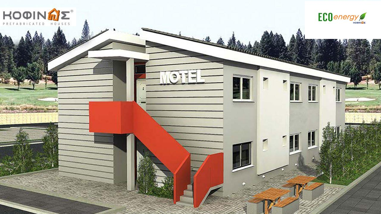 2-story Motel E-394, total space of 394,50 m²,roofed areas 22.80 m² featured image