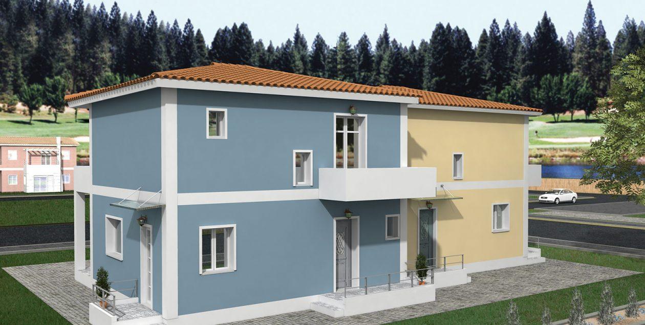 Συγκρότημα Κατοικιών D-115, συνολικής επιφάνειας 2 x 115,20 = 230,40 τ.μ.2