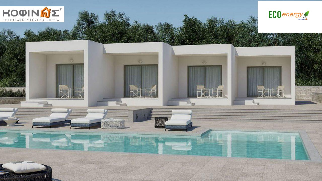 Συγκρότημα Κατοικιών E-104, συνολικής επιφάνειας 4 x 25.85=103.4 τ.μ., συνολική επιφάνεια στεγασμένων χώρων 36.92 m² featured image