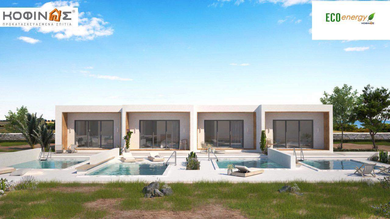 Συγκρότημα Κατοικιών E-40a, συνολικής επιφάνειας 4 x 40,10 = 160,40 τ.μ. , συνολική επιφάνεια στεγασμένων χώρων 10.03 τ.μ. featured image