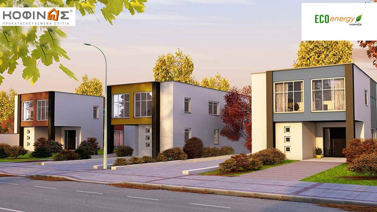 Συγκρότημα κατοικιών E-136, συνολικής επιφάνειας 3 x 136,39 = 409,17 τ.μ., συνολική επιφάνεια στεγασμένων χώρων 14,8 τ.μ. featured image