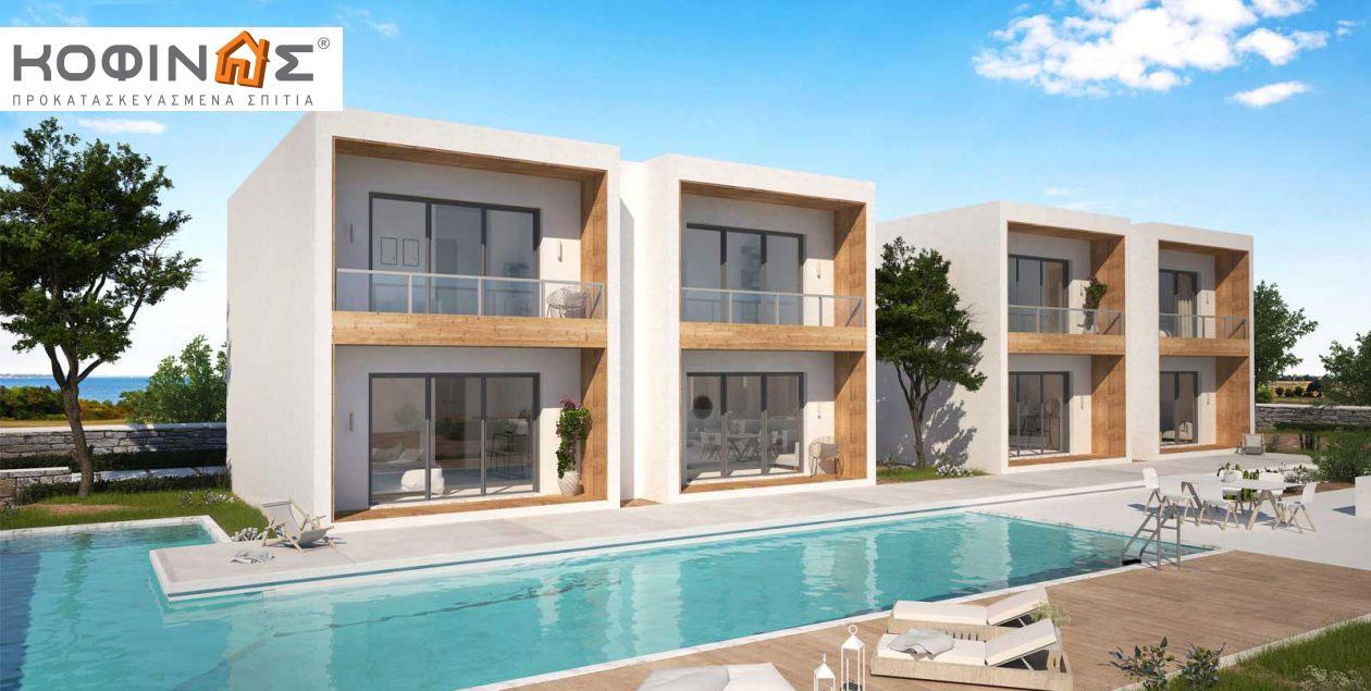 Συγκρότημα Κατοικιών E-40b, συνολικής επιφάνειας οικιών 8×40,04 & κλιμακοστασίων 4×7,70 = 351,12 τ.μ. featured image