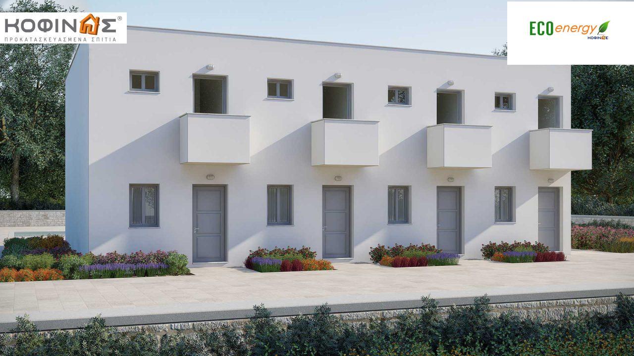 Συγκρότημα Κατοικιών E-62, συνολικής επιφάνειας 4 x 62,60 = 250,40 τ.μ., συνολική επιφάνεια στεγασμένων χώρων 85.04 τ.μ.0