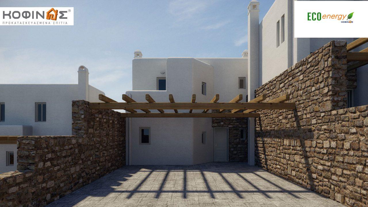 Διώροφη Κατοικία D-108, συνολικής επιφάνειας 108,07 τ.μ., συνολική επιφάνεια στεγασμένων χώρων 19,55 τ.μ., μπαλκόνια 7,30 τ.μ.1