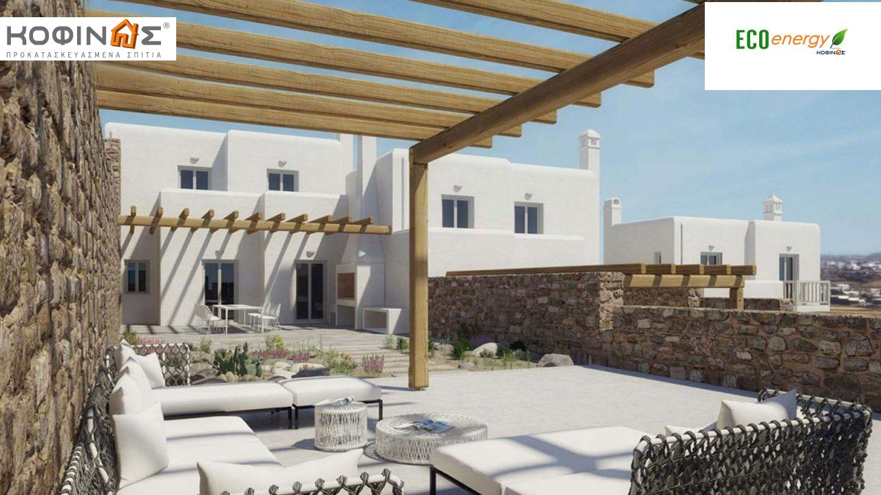 Διώροφη Κατοικία D-108, συνολικής επιφάνειας 108,07 τ.μ., συνολική επιφάνεια στεγασμένων χώρων 19,55 τ.μ., μπαλκόνια 7,30 τ.μ. featured image