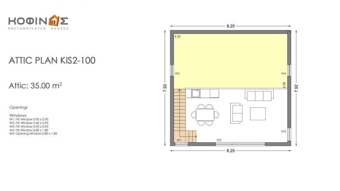 Single story house, KIS2-100 (100,37m²)