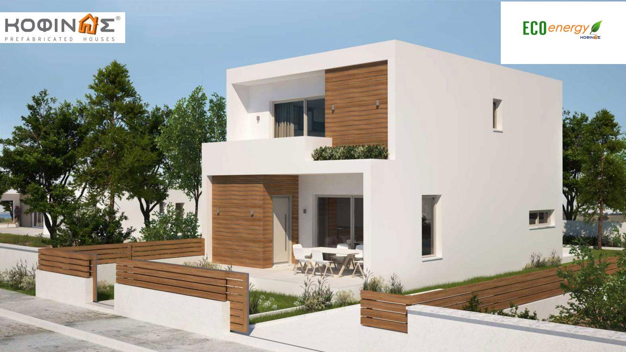 2-story house D-139, total surface of 139,00 m² ,roofed areas19.88 m²,balconies 14.27 m²0