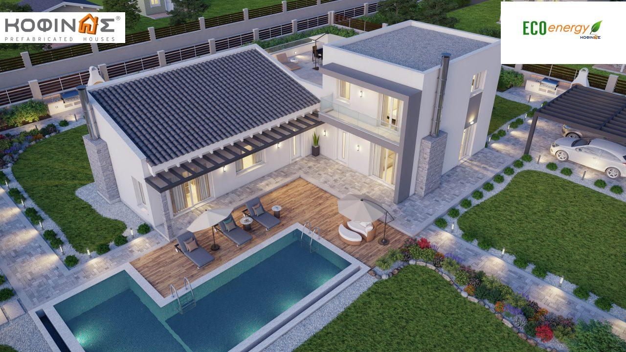Complex of 2-story houses D-224, total surface of 224,68 m² ,roofed areas 24.88 m²,balconies 75.44 m²1