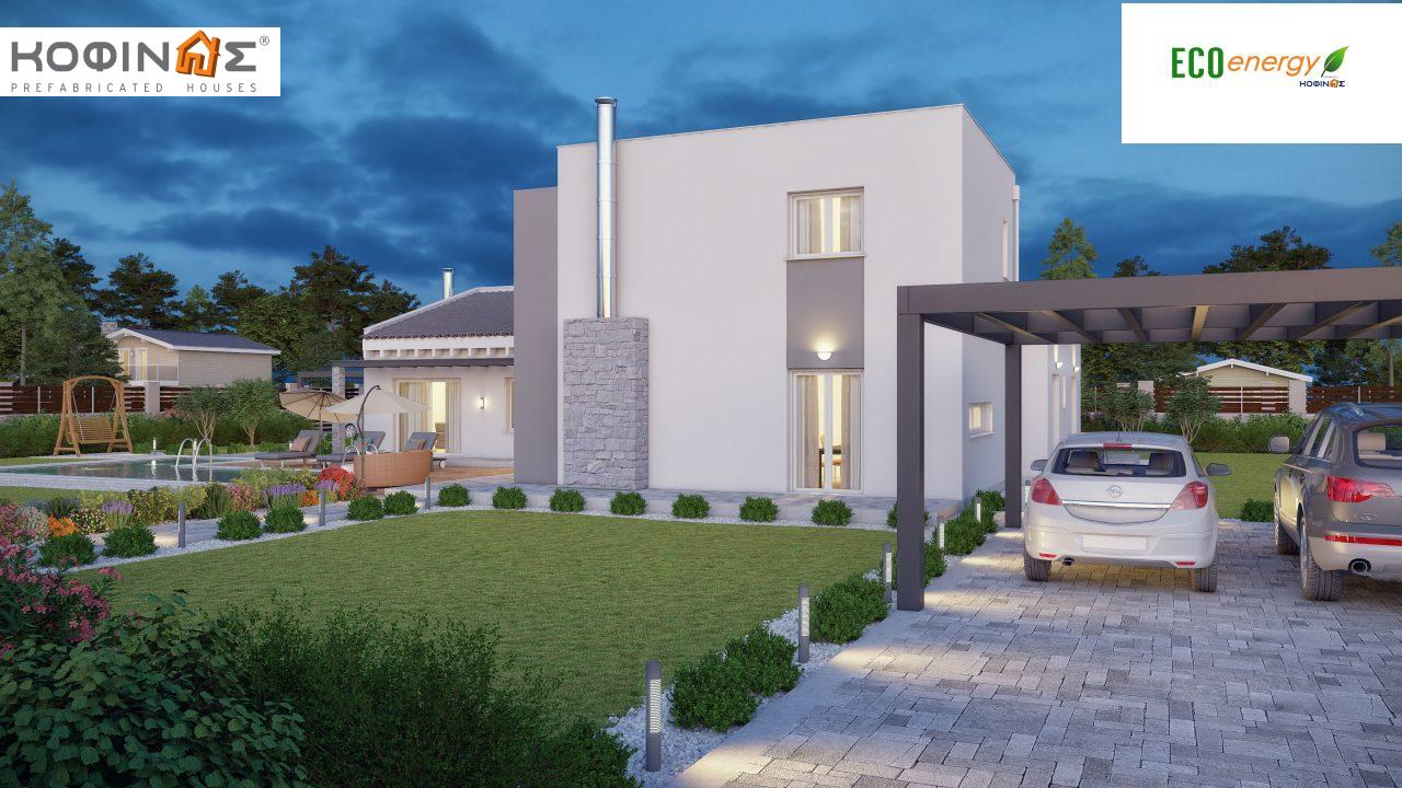 Complex of 2-story houses D-224, total surface of 224,68 m² ,roofed areas 24.88 m²,balconies 75.44 m²4