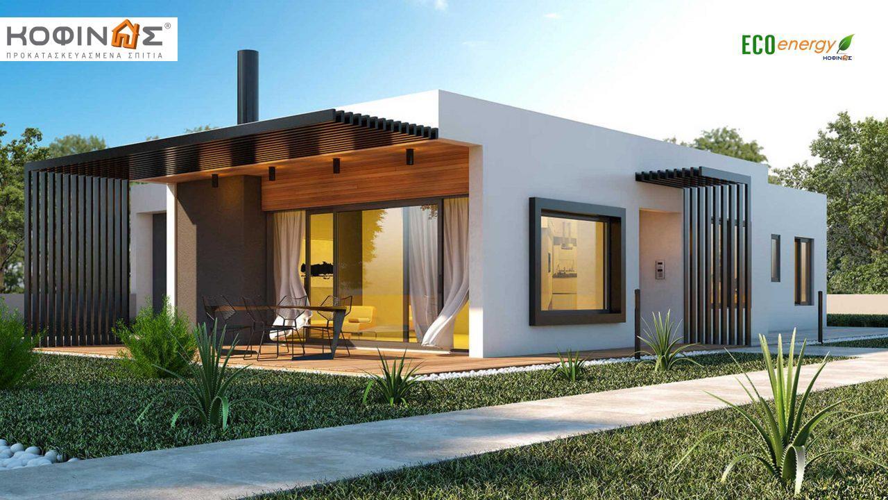 Ισόγεια Κατοικία I-160, συνολικής επιφάνειας 160 τ.μ., +Γκαράζ 40.95(=200.95 m²), στεγασμένοι χώροι 36,34 τ.μ. featured image