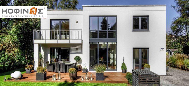 Kofinas prefabricated houses-anti seismic -prasini domisi 2 story house
