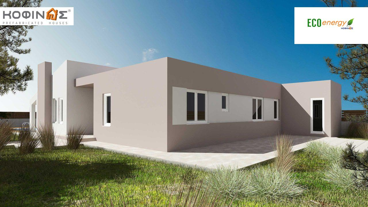 1-story house Ι-150b, total surface of 150 m², roofed areas 46,00 m²0