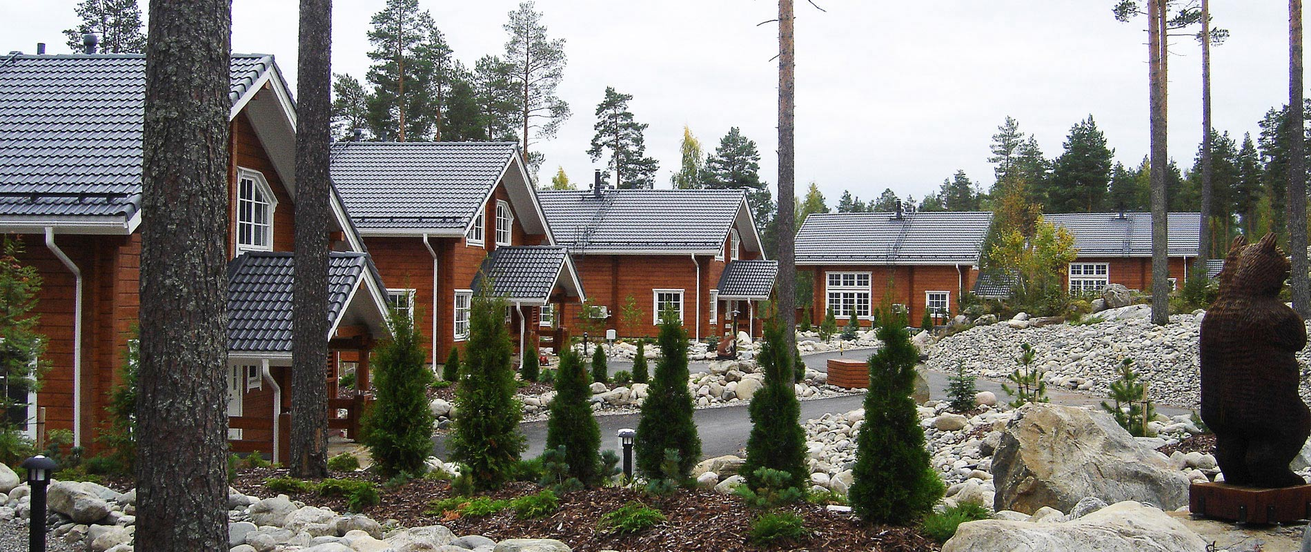 Log houses from Finland