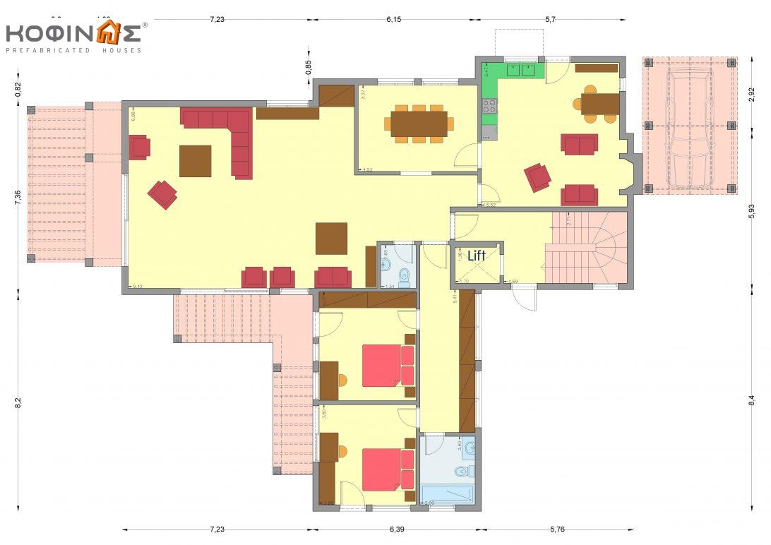 Two-story house D-378, with a total area of ​​378.24 sq.m.